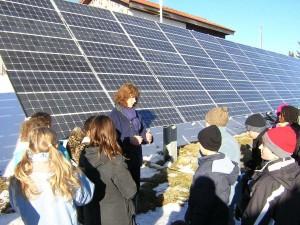 Visite d'une centrale solaire en Suisse